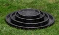 Concrete Terrazzo Saucer Round - 4 Sizes.