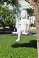 Fairy on a  Swing Statue - L