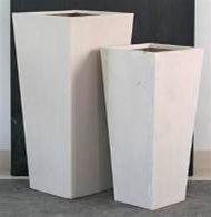 Premium Lightweight Terrazzo Tall Square Taper Planter - 2 sizes