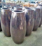 Glazed Rocket Pot  - 430 x 950 H mm - Size 3 - Sapphire