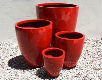 Lightweight Tall Round Planters - UV Stabilised for Outdoor Planting