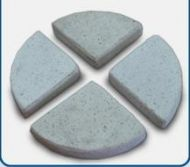 Concrete Terrazzo Feet Flat- 85x17 H mm - Set of 4 - White